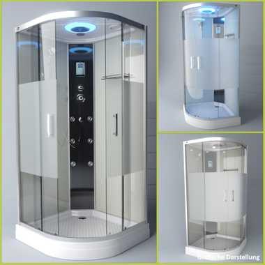 TroniTechnik Duschtempel Duschkabine Dusche Glasdusche Eckdusche Komplettdusche S100XC1HG02 100x100 – Bild 3