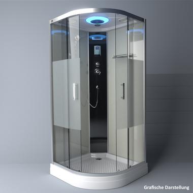 TroniTechnik Duschtempel Duschkabine Dusche Glasdusche Eckdusche Komplettdusche S100XF1HG02 100x100 – Bild 4