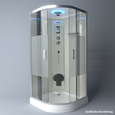 TroniTechnik Duschtempel Duschkabine Dusche Glasdusche Eckdusche Komplettdusche S090XG2HG02 90x90 – Bild 4