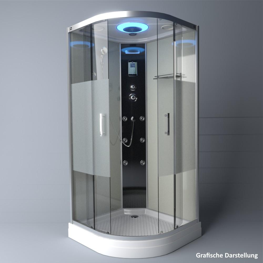 Bild 4: TroniTechnik Duschtempel Duschkabine Dusche Glasdusche Eckdusche Komplettdusche S100XH1HG02 100x100