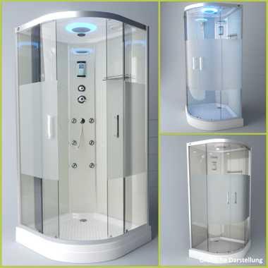 TroniTechnik Duschtempel Duschkabine Dusche Glasdusche Eckdusche Komplettdusche S100XH2HG02 100x100 – Bild 3
