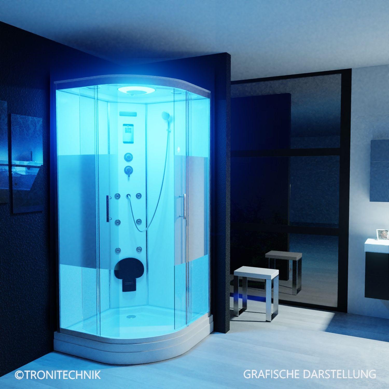 Bild 2: TroniTechnik Duschtempel Duschkabine Dusche Glasdusche Eckdusche Komplettdusche S100XI2HG02 100x100