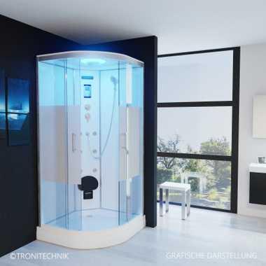 TroniTechnik Duschtempel Duschkabine Dusche Glasdusche Eckdusche Komplettdusche S100XI2HG02 100x100