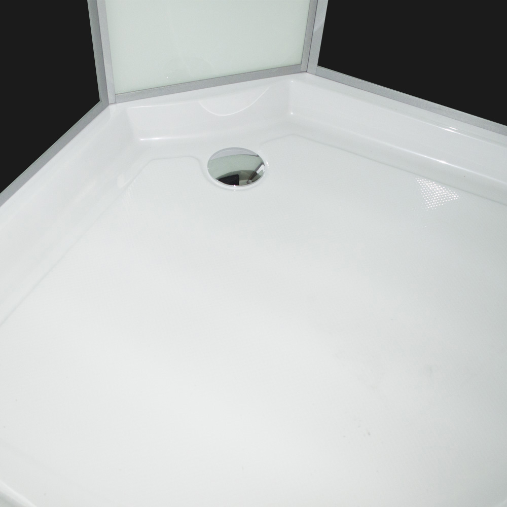 Bild 6: TroniTechnik Duschtempel Duschkabine Dusche Glasdusche Eckdusche Komplettdusche S100XC2EG01 100x100