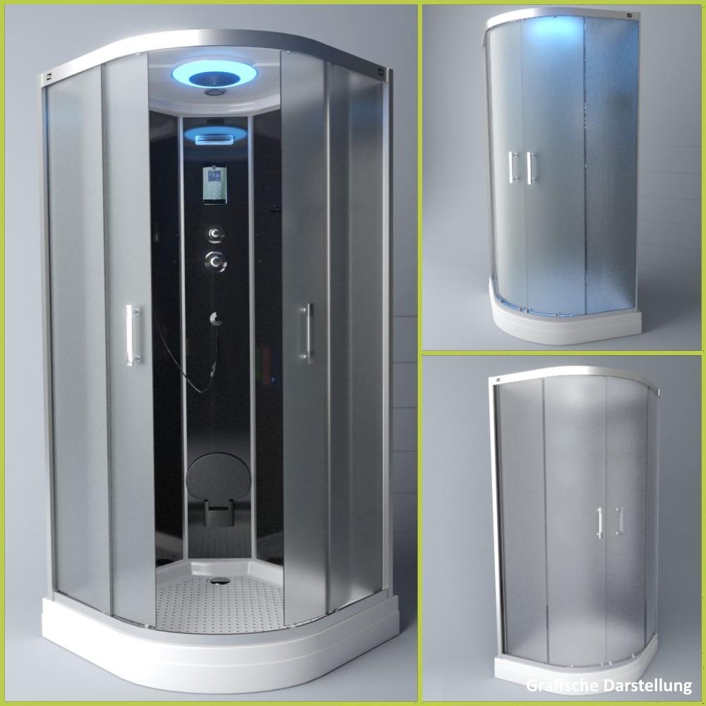 Bild 3: TroniTechnik Duschtempel Duschkabine Dusche Glasdusche Eckdusche Komplettdusche S100XG1EG01 100x100