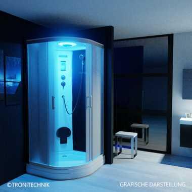 TroniTechnik Duschtempel Duschkabine Dusche Glasdusche Eckdusche Komplettdusche S100XG2EG01 100x100 – Bild 2