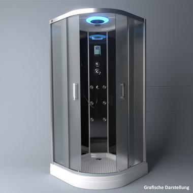 TroniTechnik Duschtempel Duschkabine Dusche Glasdusche Eckdusche Komplettdusche S100XH1EG01 100x100 – Bild 4