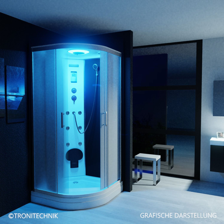 Bild 2: TroniTechnik Duschtempel Duschkabine Dusche Glasdusche Eckdusche Komplettdusche S100XI2EG01 100x100
