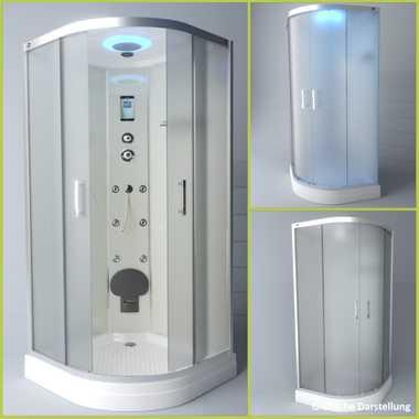 TroniTechnik Duschtempel Duschkabine Dusche Glasdusche Eckdusche Komplettdusche S100XD2EG02 100x100 – Bild 3