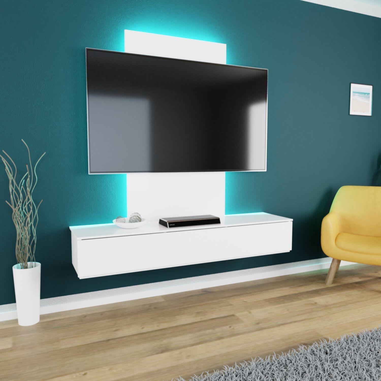 Bild 2: TroniTechnik TV Board Lowboard Möbel Schrank Unterschrank Weiß Hochglanz VELAN