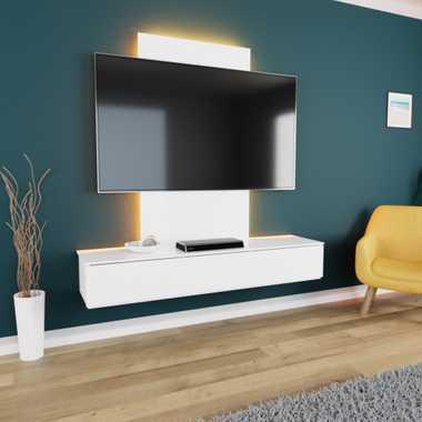 TroniTechnik TV Board Lowboard Möbel Schrank Unterschrank Weiß Hochglanz VELAN – Bild 20