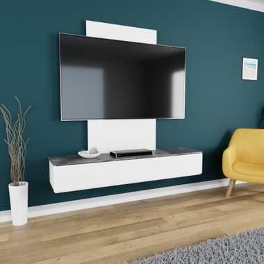 TroniTechnik TV Board Lowboard Möbel Schrank Unterschrank Weiß Hochglanz VELAN – Bild 18