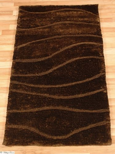 Carpet / rug JOY designer  Shaggy 80 cm x 150 cm / 31.5 '' x 59.1 '' brown