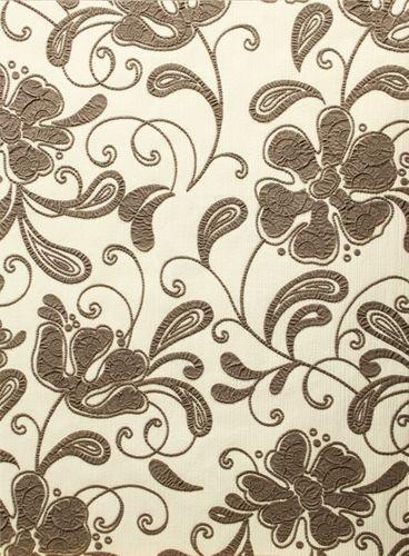 Vliestapete Blumen Crush Optik creme braun P+S 03931-30