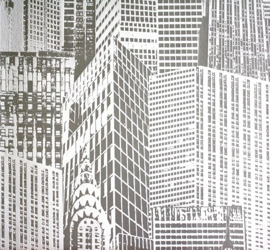 Wallpaper MANHATTAN non-woven wallpaper new 2528-38 252838 white
