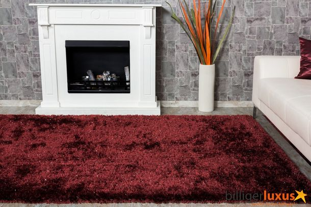 Carpet / rug Shaggy  Carpet / rug NOVA 200 cm x 290 cm / 78.74 '' x 114.17 '' red online kaufen