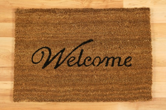 "Coconut mat floor mat coconut foot mat ""Welcome"" online kaufen"