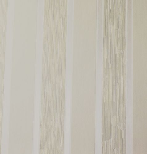Non-Woven Wallpaper Block Stripes cream white Gloss 51716