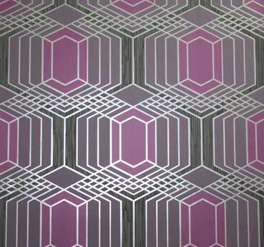 Non-woven wallpaper AT HOME Marburg wallpaper retro 51748 purple