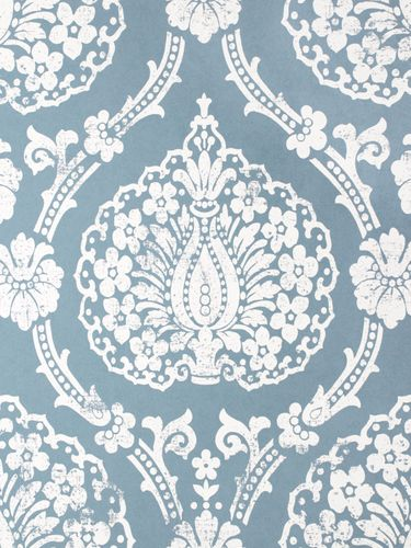 Non-woven wallpaper Scandinavian Vintage Marburg 51652 blue