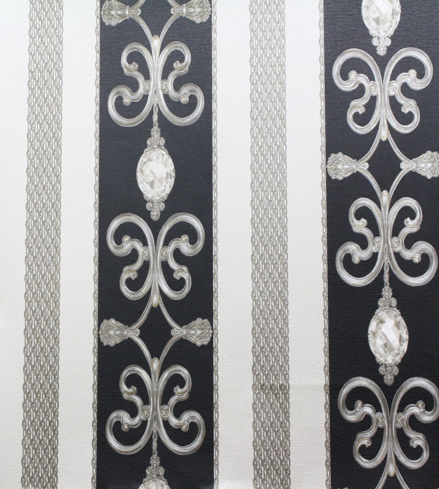 hermitage 8 barock satin tapete 8913 34 891334 schwarz With balkon teppich mit hermitage 8 barock satin tapete