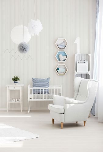 Kids Wallpaper Stripes Structure white Gloss 2597-14 online kaufen