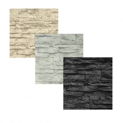 Non-woven wallpaper stone optic in 3 different colours
