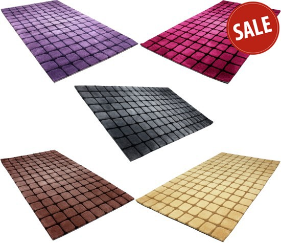 "Schöner Wohnen Design rug ""Shadow"" 160x90 cm in 5 different colors 3D Optik   online kaufen"