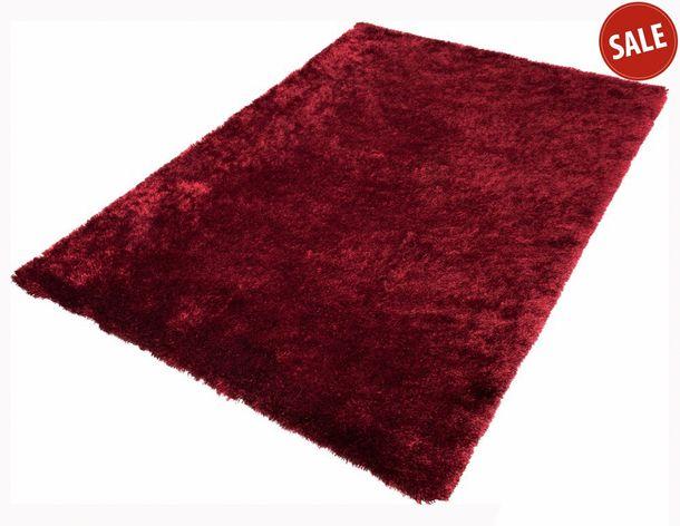 Schöner Wohnen Teppich Shaggy Hochflor 170x240cm rot