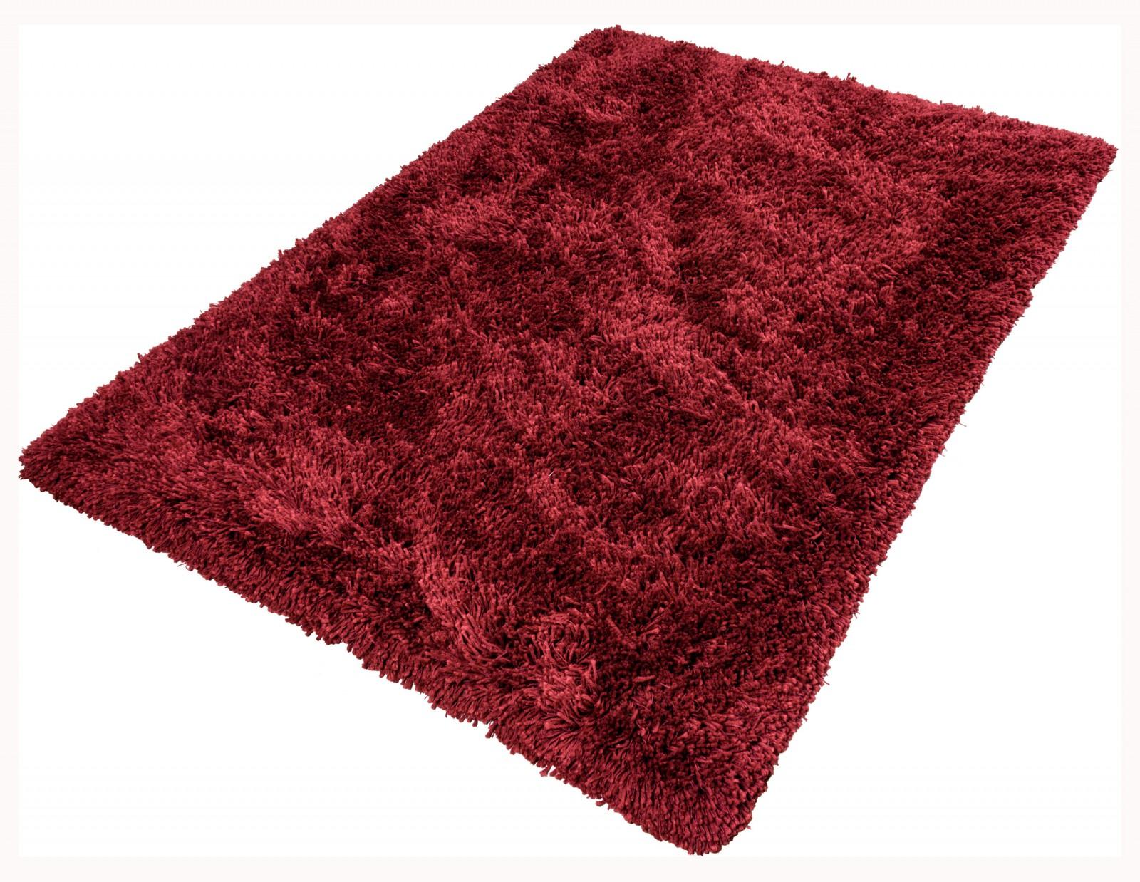 Teppich Shaggy Comfort Hochflor Teppich 80x150 Cm Rot