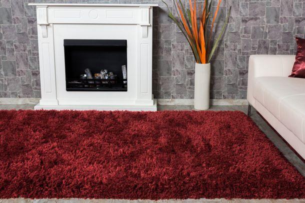 Teppich Shaggy Comfort Hochflor Teppich 80x150 cm rot online kaufen