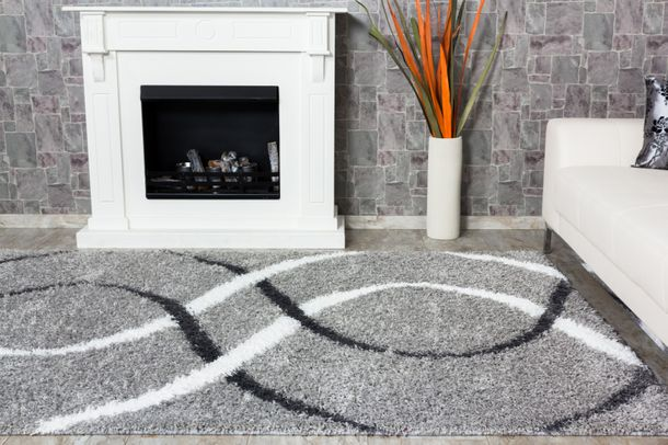 Carpet / rug Shaggy Portofino about 230 cm x 160 cm / 90.55 '' x 62.99 '' white grey
