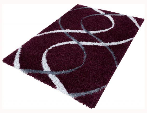 Carpet / rug Shaggy Portofino about 230 cm x 160 cm / 90.55 '' x 62.99 '' aubergine grey online kaufen