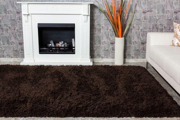 Teppich Shaggy Luxus Hochflor 200x290cm schocko braun online kaufen