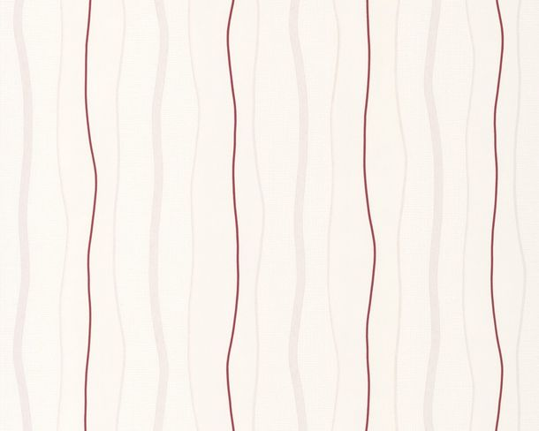 Non-woven wallpaper AS Avenzio 4 2495-31 249531 stripes white red