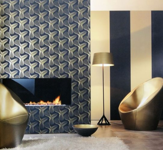 Karim Rashid Designer wallpaper retro 52016 black gold online kaufen