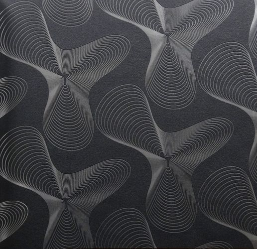 Karim Rashid Designer wallpaper retro 52017 silver black