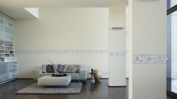 Wallpaper Border Kids Owl white grey self-adhesive 8955-30 online kaufen