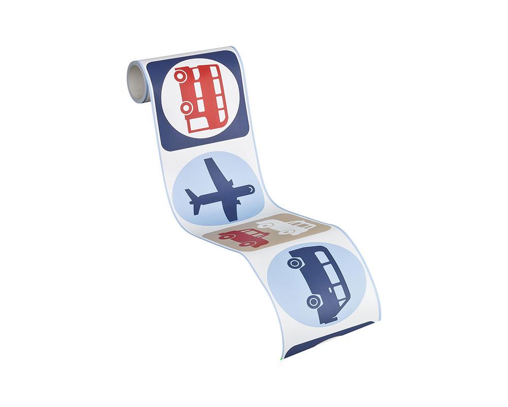 tapeten bord re kinder autos flugzeug wei blau as 8957 14. Black Bedroom Furniture Sets. Home Design Ideas
