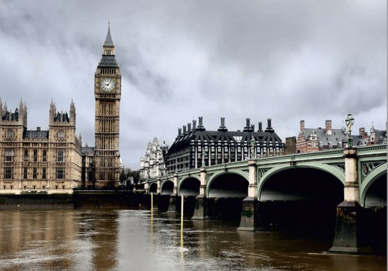 Wall mural wallpaper London Big Ben skyline photo 360 cm x 270 cm / 3.94 yd x 2.95 yd online kaufen