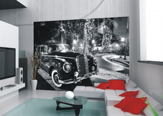 Wall mural wallpaper Rolls Royce oldtimer car photo 360 cm x 270 cm / 3.94 yd x 2.95 yd online kaufen