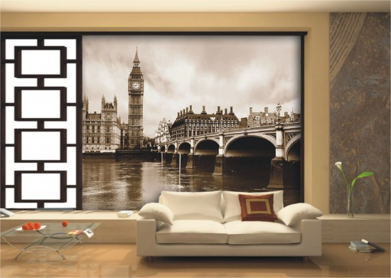 fototapete tapete london big ben skyline anthik foto 360 cm x 254 cm. Black Bedroom Furniture Sets. Home Design Ideas