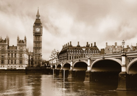 Wall mural wallpaper London Big Ben skyline anthic photo 360 cm x 254 cm / 3.94 yd x 2.78 yd online kaufen