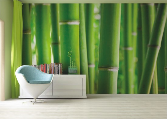 Wall mural wallpaper bamboo exotik photo 360 cm x 254 cm / 3.94 yd x 2.78 yd online kaufen