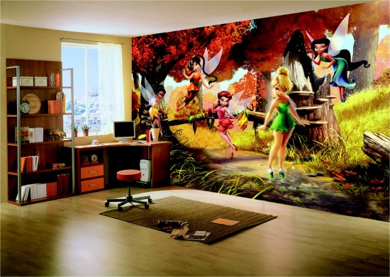 Wall mural wallpaper fairies Tinkerbell Tinker Bell kids wallpaper photo 360 cm x 254 cm / 3.94 yd x 2.78 yd online kaufen