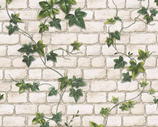 Wallpaper Stonewall Ivy cream green 9804-34 online kaufen