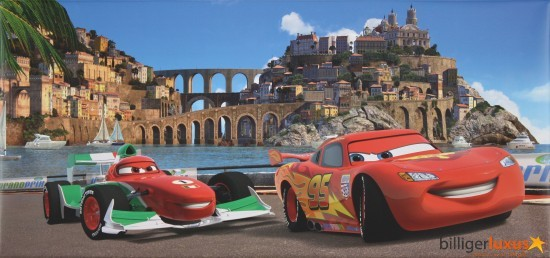 "Disney Cars 2 canvas picture 33x70 cm / 12.99""x 27.56"" online kaufen"