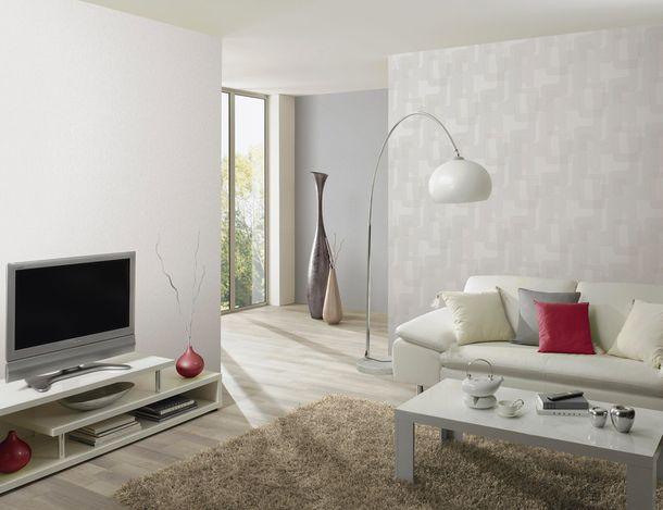 Wallpaper plain textured white P+S Novara 13082-10 online kaufen
