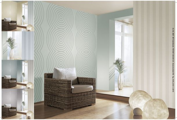 non-woven wallpaper paintable stripes white wallpaper Patent Decor 3D Marburg 9436 online kaufen