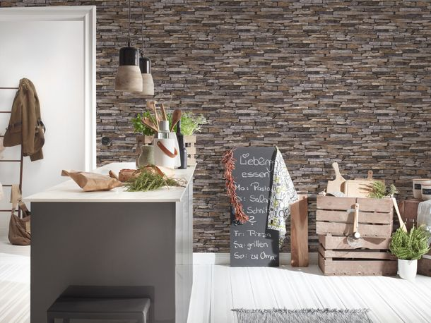 Wallpaper natural stone bricks brown AS Creation 9142-17 online kaufen
